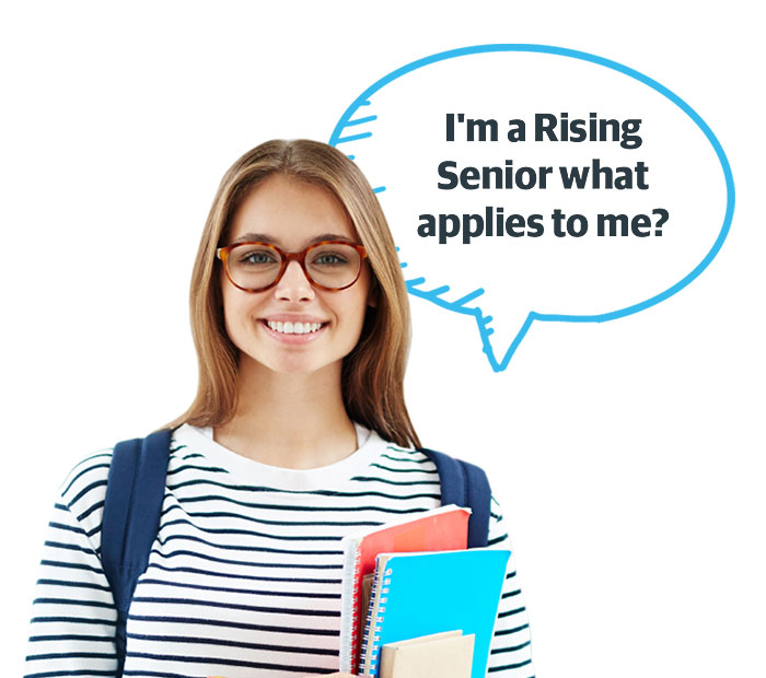 I'm a rising senior what applies to me?