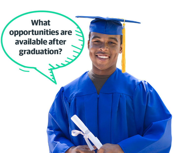 What opportunities are available after graduation?