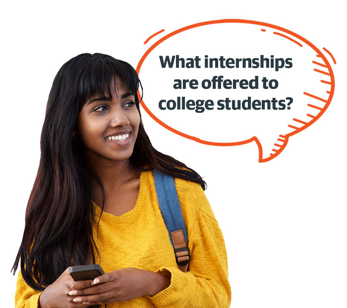 What internships are offered to college students?