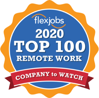 FlexJobs award logo for best Work From Home and remote work jobs